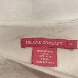 Island Company Dresses - Island Company Sleeveless Linen Shift Dress White